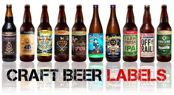photograph about Printable Beer Labels named Craft Beer Labels inside Vancouver, BC Glenwood Labels